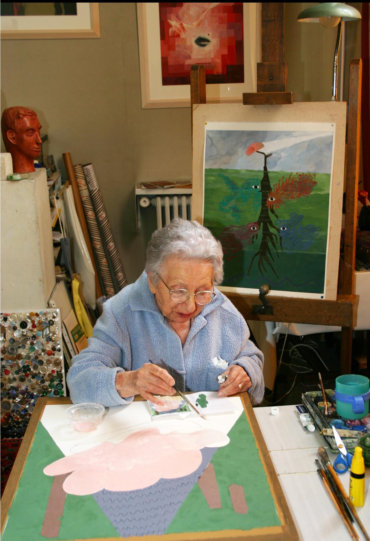 L'Artiste en 2006 dans son atelier de la rue des Plantes à Paris