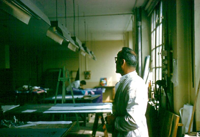 Lucien Huchard Atelier de l'imprimerie Courbet