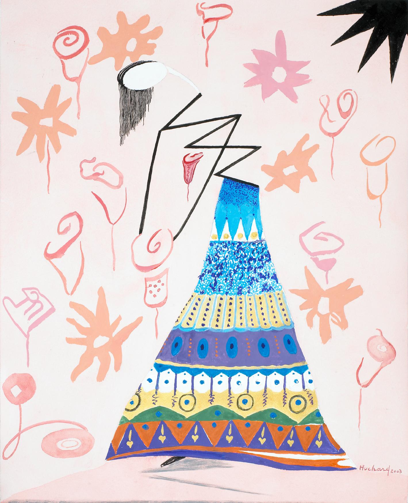Frida Kahlo – 2003 – Gouache 51x60cm - Huchard